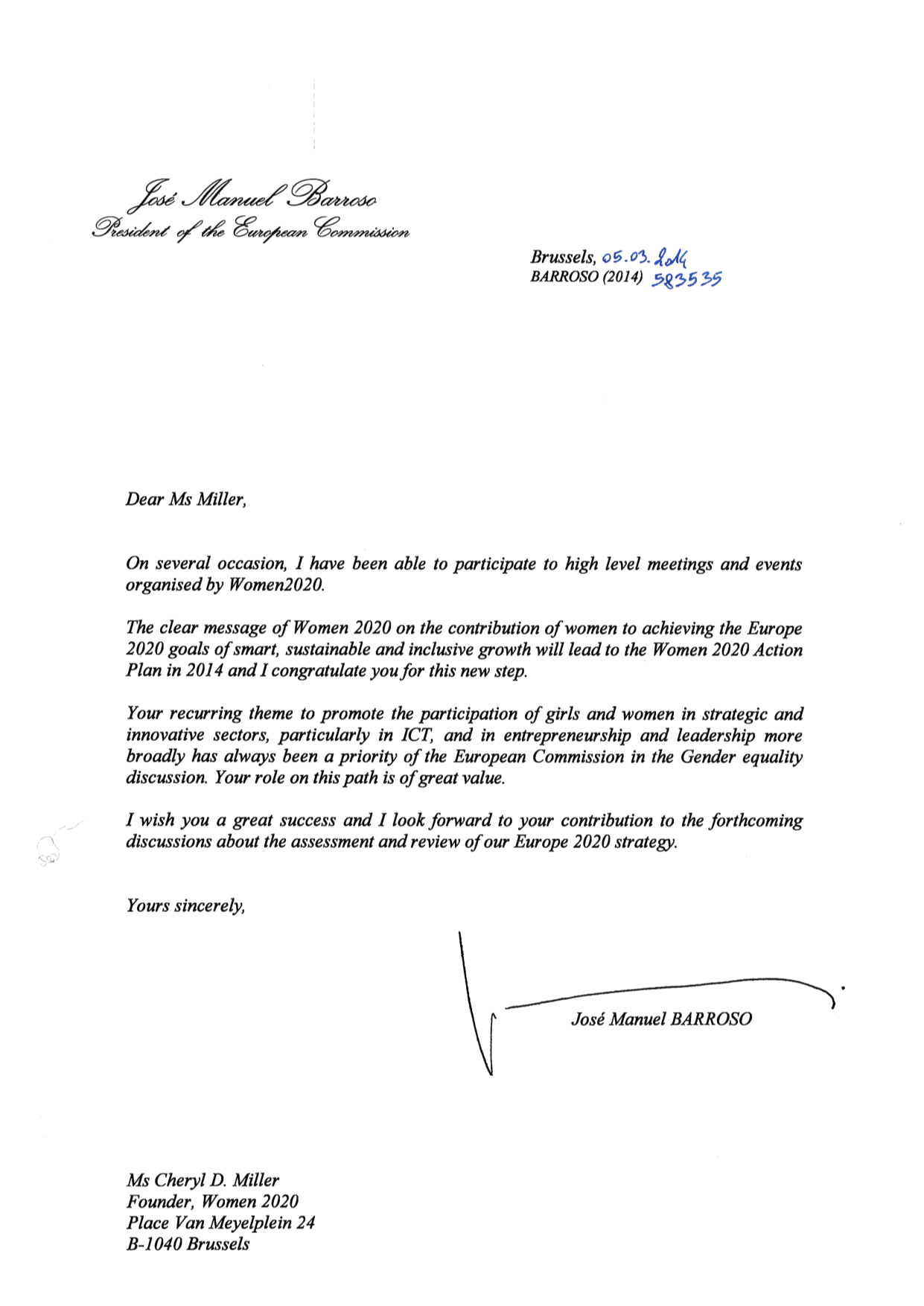 successful dli launch digital leadership institute barroso letter for women2020 women2020